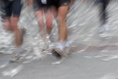 Marathon. Hamburg Marathon 2006, Germany. Motion effect from the original shot Stock Photography