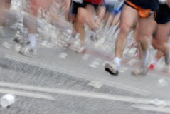 Marathon. Hamburg Marathon 2006, Germany. Motion effect from the original shot Stock Images