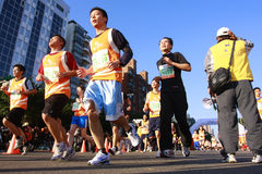 Marathon. People on the street running during the Taipei Marathon, Dec. 21,2008 Stock Image