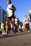 Marathon. People on the street running during the Taipei Marathon, Dec. 21,2008 Stock Photos