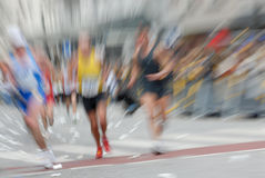 Marathon. Racer at the Hamburg  2006 in germany, europe. Motion effect from the original shot Royalty Free Stock Photography