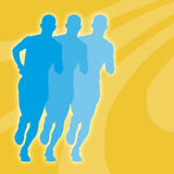 Marathon Abstract. Abstract of marathon runners (with space for text Stock Image