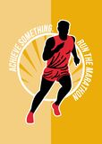 Marathon Achieve Something Poster Retro Stock Photography