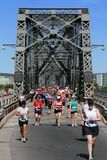 Marathon Across Bridge stock photography