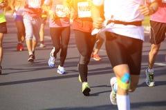 Marathon athletes run Stock Image