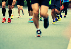 Marathon athletes running Royalty Free Stock Photos