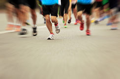 Marathon athletes running Stock Photography