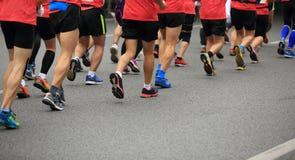 Marathon athletes running Royalty Free Stock Image
