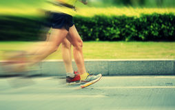 Marathon athletes running Royalty Free Stock Images