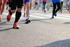 Marathon athletes running Stock Photo