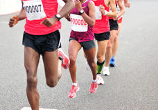 Marathon athletes running Royalty Free Stock Photo