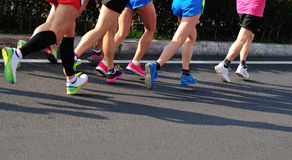 Marathon athletes running Royalty Free Stock Photography