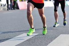Marathon athletes running stock photos