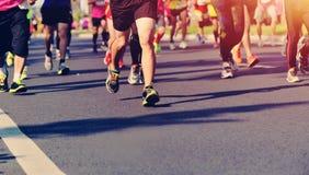 Marathon athletes running Stock Photography