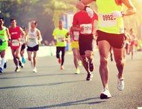 Marathon athletes running stock images