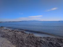 Marathon beach. Beautiful sea crystalclearwater sun Stock Image