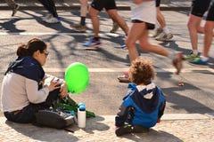 Marathon in Berlin 30.03.2014 Stockbild