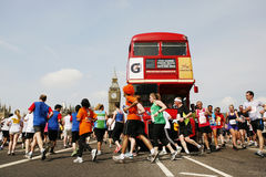 2013, Marathon Briten 10km London Lizenzfreies Stockbild