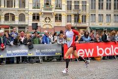 Marathon in brussels stock images