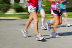 Marathon (in camera motion blur) Royalty Free Stock Images