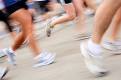 Marathon (in camera motion blur) Royalty Free Stock Photos