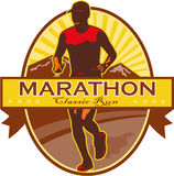 Marathon Classic Run Retro Royalty Free Stock Photography