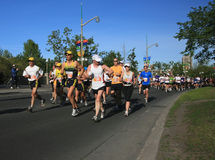 Marathon on Confederation Boul Stock Photography
