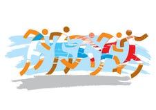 Marathon courant de course Photos libres de droits
