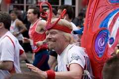 Marathon courant de monsieur Richard Branson photo libre de droits