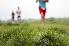 Marathon cross-country running, blurred motion Stock Images