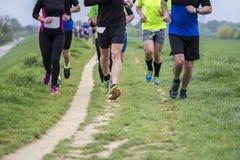 Marathon cross-country running Stock Photos