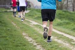 Marathon Cross-Country Running Stock Image
