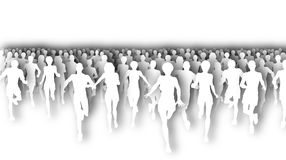 Marathon cutout Royalty Free Stock Images