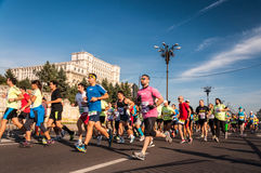 Marathon 2015 d'International de Bucarest Photo libre de droits