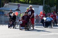 Marathon d'International de Riga Photos libres de droits