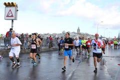 38 Marathon d'Istanbul Photos libres de droits
