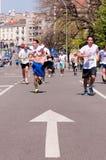 Marathon de Belgrade Images libres de droits
