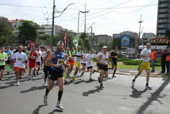 Marathon 2014 de Belgrade images stock