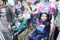 Marathon de halh de Delhi image stock