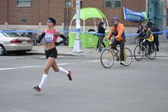 Marathon de Kara Goucher Runner NYC Photographie stock libre de droits