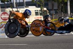 Marathon de LA - fauteuil roulant Photo stock
