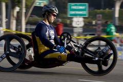 Marathon de LA - fauteuil roulant Photo libre de droits