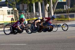 Marathon de LA - fauteuil roulant Images stock