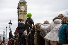 Marathon de Londres d'argent de Vierge 24 avril 2016 Image libre de droits