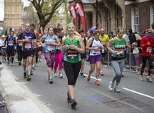 Marathon de Londres d'argent de Vierge 24 avril 2016 Photographie stock libre de droits