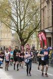 Marathon de Londres d'argent de Vierge 24 avril 2016 Images libres de droits
