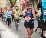 Marathon de Londres d'argent de Vierge, le 24 avril 2016 Image libre de droits