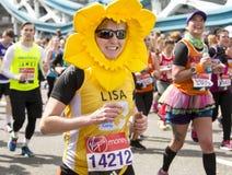 Marathon de Londres d'argent de Vierge, le 24 avril 2016 image stock