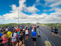 Marathon de Montreal from the view of a jogger. Stock Photo