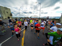 Marathon de Montreal from the view of a jogger. Royalty Free Stock Image
